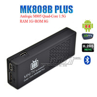 Wholesale Quad Core Miracast Dongle - 100pcs Original MK808B Plus Android 4.4 HDMI TV Stick TV Dongle Amlogic M805 Quad-Core 1GB 8GB Mini PC Bluetooth XMC Miracast DLNA V893