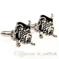 Wholesale Bull Cufflinks - Black bull mixed batch cufflinks cufflinks AE1365 Metal Craft