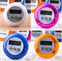 Wholesale Magnetic Countdown Timer - LCD Digital Kitchen Timer Portable Round Magnetic Countdown Alarm Clock Timer with Stand Kitchen Tool Purple ak064