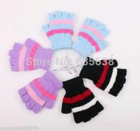 Wholesale Laptop Hand Warmer - Wholesale-Laptop USB Heating Winter Warm Hot Hands Gloves Heated Warmer Woolen Fingerless