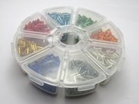 Wholesale Glass Bead Tubes - 2000 Mixed Silver-Lined Color Glass Tube Bugle Seed Beads 2X7mm + Storage Box