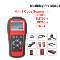 Wholesale Obd1 Code Connector - 2017 Newest Genuine Autel Maxidiag MD801 code reader scanner for OBD1 OBDII protocol best price with high quality