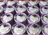 hochzeit geschenkbox für schokolade großhandel-100pcs / lot 2015 reizendes Hochzeitsfestbevorzugungsgeschenkhochzeits-Schokoladen-Süßigkeitskasten mit silk Band- und Lavendelweihnachtsbevorzugungskästen