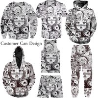 Wholesale Girls Purple Tracksuit - New Fashion Couples Men Women Unisex Anime Ahegao Sexy Girl 3D Print Tracksuits Suits Hoodies Pullover Top S-5XL TZ2
