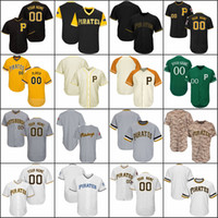 Wholesale Base Number - Custom Mens Womens Youth Pittsburgh Baseball Jerseys White Gray Black Cream Yellow Stitched any Name Any Number Flex Base Cool Base Jerseys