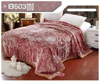 Wholesale newly listed d carved art blanket autumn and winter thickening double layer Raschel blanket bedding set warm keeping gift