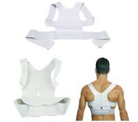 Wholesale Shoulder Back Posture - 100pcs lot Free Men Women Magnetic Posture Support Corrector Back Belt Band Pain Feel Young Belt Brace Shoulder for Sport Safety Brand New