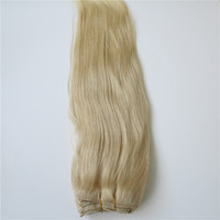 Wholesale Platinum 21 - 100% Human Hair Clip in Hair Extensions Brazilian Hair Unprocessed Dyeable Remy Hair Platinum Blonde 320g pcs 21