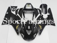 Wholesale Injection Plastics For Yamaha YZF1000 YZF R1 ABS Fairings Motorcycle Full Fairing Kit Cowlings Flat Black with Gold Decals