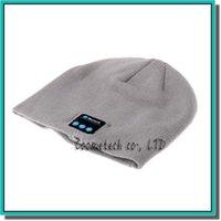 Wholesale Knitted Apple Hats - Hot Men Women Soft Winter Beanie Hats Wireless Bluetooth Smart Cap Headphone Headset Speaker Mic Headgear Knitted Cap More Colorful