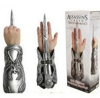 Wholesale Neca Assassins Creed Gauntlets - NECA 1:1 1pcs Assassins Creed Hidden Blade Brotherhood Ezio Auditore Gauntlet Replica Cosplay Christmas Gift with Original packing box