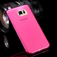 Wholesale Samsug Galaxy - Transparent Clean TPU Case For Samsung Galaxy S6 G9200 Soft Gel Rubber Back Mobile Phone Cover Case for Samsug S6 Edge