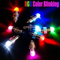 mini luzes de papel venda por atacado-Nova marca 36 pcs LED RGB mini balão impermeável submersível lanterna de papel luz festa de casamento luz Floral