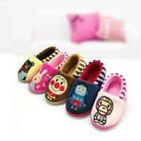 Wholesale Baby Slipper Floor Shoes - Wholesale-2015 new winter home skid shoes indoor children's cartoon cute baby floor trailer baby slippers winter