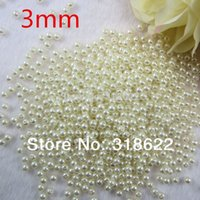 Wholesale Imitation Pearls Loose Beads - Free Shipping 3mm 2000pcs lot Ivory Color ABS Pearl Beads,Imitation Round Beads Wholesale Loose Beads Jewelry Making DIY