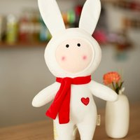 Wholesale Soft Toys Patterns Free - hot! cute 50cm rubbit two patterns for choice plush toys christmas kids children girlfriend gift free shipping 2015