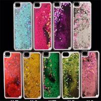 fall iphone neues produkt großhandel-Neues Produkt Dynamischer flüssiger bunter Glitter-Schein glitzert Bling schnellen Sand-Luxuxtelefonkasten für iPhone