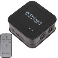 Wholesale Digital Input Output - Mini SPDIF   Toslink Digital Optical Audio 3x1 Switcher (3 Inputs & 1 Output) with Remote Control HMP_453