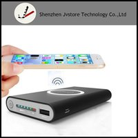 Wholesale External Mobile Devices Power - 8000mAh Wireless Charging External Battery Portable Mobile Power Bank Built-In Light With Q1 Standard Devices for Iphone x 8 plus S7