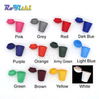 çan poşetleri toptan satış-100 adet / grup Renkli Kordon Bell Stoper Kapak Kilidi Ile Paracord Giyim Çantası Spor Giyim Ayakkabı Için Plastik Geçiş Klip Ends