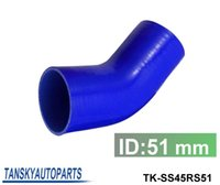 "Wholesale Silicon Radiator Hoses - Universal 45 degree Elbow Hose 51mm 2"" Silicon (colors) TK-SS45RS51"