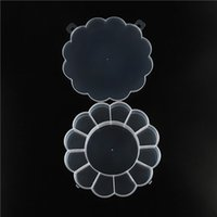 Wholesale Small Storage Compartments - Flower Shape Favor Box Small Part Jewelry Container Organizer with 12 Slots Nail Tool Plastic Storage Case Earring jewelry Compartments