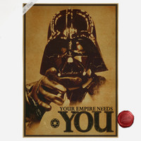 Wholesale Classic Vintage Paintings - Vintage Star Wars Poster Retro Kraft Paper Poster Decorative Painting Art Wall DIY Home Decoration 30X42cm