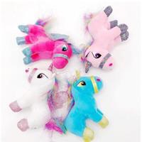 Wholesale Cartoon Pendent - 4 Colors 20cm Creative Unicorn Doll Cute Unicorn Plush Toy Cartoon Unicorn Pendent Cartoon Accessories Kids Xmas Gifts CCA8325 50pcs