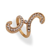 Wholesale Multi Styles Finger Rings - 2015 NEW Mixture Multi-style 18K Gold Ring under $5 With Crystal Gemstone Jewelry Finger Rings For Women 12Pcs Lot Rhinestone rings