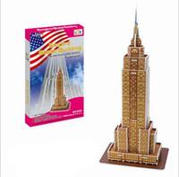 Wholesale Tower Bridge Model - Wholesale-DIY HandMade 3D Puzzle Paper Model Famouse Building Construction Craft Castle Opera House Bridge Eiffel Tower Multi Style