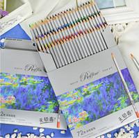 arte 72 venda por atacado-72 Lápis De Cor lapis de cor Profissional Belas Artes Desenho Não-tóxico Desenho De Esboço Livre de Chumbo Lápis Cor Desenho Pintura Caneta Colorida