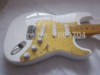 Wholesale Electric Guitar White Maple Neck - Free shipping wholsale NEW guitarra st guitarra white color maple neck electric guitar guitar in china