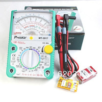 Wholesale Measure Dc Current - Free Shipping! Proskit MT-2017 AC DC Analog Multimete Measured capacitance resistance AC DC Current Voltage Protection function order<$18no