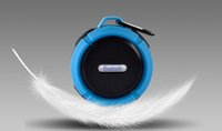 Wholesale Plastic Button Hooks - C6 Speaker Bluetooth Speaker Wireless Potable Audio Player Waterproof Speaker Hook And Suction Cup Stereo Music Player With Retail Package