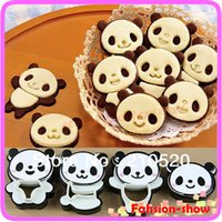 Wholesale Craft Sandwich Plastic Mold Cutter - Hot Sale Little Panda Shape Sandwich Mold Bread Cake Mold Maker DIY Mold Cutter Craft