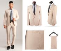 Wholesale Best Classic Ties Colors - Handsome One Button Slim Fit Groom Tuxedos Notch Lapel Men's Suit 3 Colors Groomsman Best Man Wedding Prom Suits (Jacket+Pants+Tie) J943