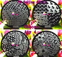 Wholesale Design Plates For Nail Art - 4PCS Fashion Flower 24 Design Plate PN 1-24 Series For Choosing Nail Art Image Konad Print Stamp Stamping Manicure Template