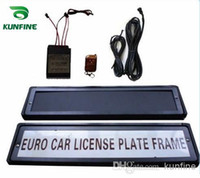 Wholesale Russian License Plates - Free shipping !European   Russian car Flip License Plate Frame with remote control car licence frame cover plate AUTOMATIC TURN revolving