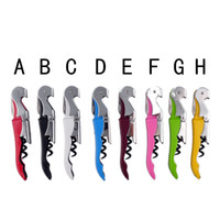 Wholesale Tap Wholesale - Kitchen Gadgets Stainless Steel Bottle Opener Knife Pull Tap Double Hinged Corkscrew Creative Promotional Gifts Multi-function Wine 0702015