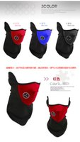 Wholesale Bicycle Face Mask Cheap - New Cheap Neoprene Neck Warm Half Face Mask Winter Veil Windproof For Sport Bike Bicycle Motorcycle Ski Snowboard Outdoor Mask