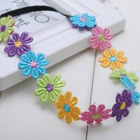 Al por mayor- 1 PC Boho Style Multi Color Flowers Crown Daisy Baby Girls Headbands Hippie Music Festival Wear Niños Accesorios para el cabello