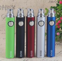 650mah Evod Battery Оптовая цена 900mah 1100mah Real Capacity Top Quality 510 Нить E сигарета Ego EVOD Colorfuly Аккумулятор