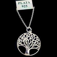 baum leben anhänger halskette silber groihandel-Einzelteil 925 Mode das meiste populäre heiße Silber überzogene Baum des Lebens-hängende Halskette 18inch Großhandelspreis-freies Verschiffen