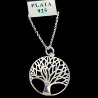 Wholesale 925 Silver Prices - Item 925 Fashion Most Popular Hot Silver Plated Tree Of Life Pendant Necklace 18inch Wholesale Price Free Shipping