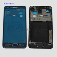 Wholesale Replacement Lcd S2 - DHL 100pcs lot Replacement parts Front Housing Middle Frame Bezel Plate +Genuine LCD Frame For Samsung Galaxy S2 I9105 + Home Button,(Blue)