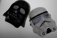 Wholesale White Mask Star Wars - Free shipping Star wars mask Darth Vader Empire Storm Clone trooper helmet black warrior Empire soldiers Halloween mask party games Mask