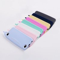 Wholesale Whale Soft Case Cover - Kawaii Big Mouth Whale Rubber Silicone Card Holder Soft Case Cover for Apple iPhone 6 6S 4.7 Inch Storage Back Cover