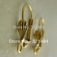 Wholesale Leverback Earring Wires - Wholesale!!! 1000pcs Gold plated with shell design French Earwire Leverback Earring Hook Wires Findings Accessoreis