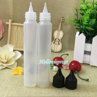 Wholesale best e cigarettes resale online - 2017 New screw cap ml PE pen shape bottle for e cigarettes oil best selling OZ bottle on