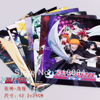 bleach posters - 2015 Stickers Wall Decor Anime Bleach Posters High Quality Thick Embossing Wall Sticker x29cm set Anpo022